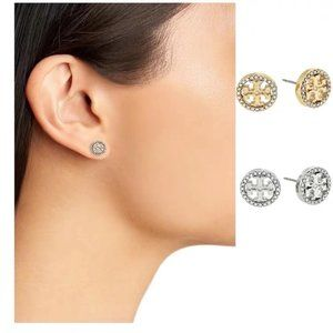 Tory Burch 18K Round Simple Earrings